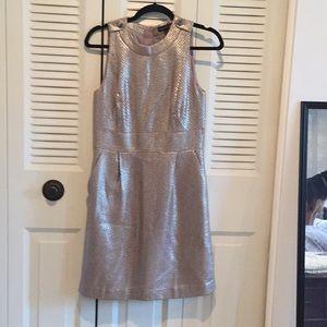 Banana Republic silvery gold A line dress, size 6